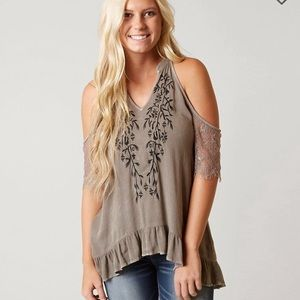 Gimmicks by Buckle cold shoulder top